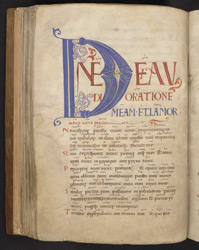 Psalm 101 Initial And Old English Glosses, In 'The Bosworth Psalter'